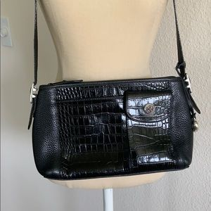 Brighton Crocodile embossed pebble leather purse